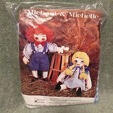 Michael & Michelle Rug Yarn Doll Kit VINTAGE Michael Doll Only NEW SEALED PKG