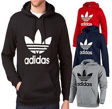 adidas trefoil hoodie grå