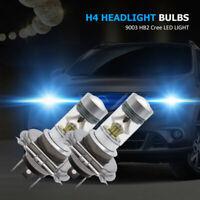 2x H4 Cree LED 6000K 100W 20SMD Voiture feu de Super Brouillard Ampoule Blanc