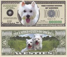 Westie - West Highland White Terrier Dog Money Bill #308