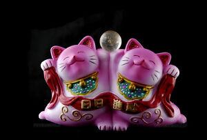 Cat Japanese Maneki Neko Japan Pink Manekineko Resin G301 R - 277