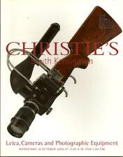 CHRISTIE'S CAMERAS Leica Contax Nikon Rollei Auction Catalog 2000