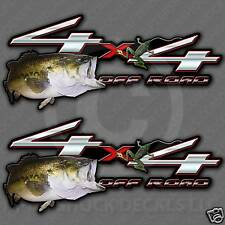 Bass Fishing 4x4 Truck Decal Set - Off Road Frog Sticker for Ford and Chevy