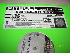 "Pitbull w/Lil Jon That's Nasty / I Don't Give a F**k 12"" *SEALED* 2003 TV-2501-0"
