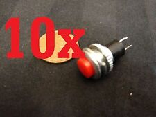 10x Momentary PUSH BUTTON SWITCH DC RED 10mm n/o car on/off DS-316 5A 125VAC b8