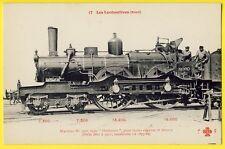 cpa Dampflokomotive EISENBAHN Französisch, Steam LOCOMOTIVE RAILWAY French