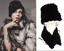 MILANO FALL TREND Lady's Cossack Hat BEANIE LOOK Real Persian Karakul Lambs Fur