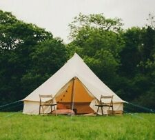 4m FIREPROOF 360 gsm  Bell Tent with Zig by Bell Tent Boutique. BS Rated.