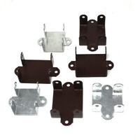 EASY USE FENCE PANEL BRACKETS - 47mm 52mm - BROWN OR GALVANISED CLIPS BRACKET