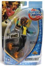 "DC Comics Super Hero Girls BUMBLEBEE Figure w/ Wings 6"" New Doll Rare NIP"