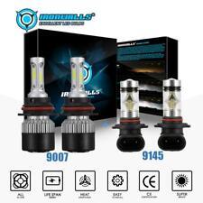 Combo 9007 LED Headlight +9145 Fog Light for Ford Ranger 2001-2011 High Low Beam