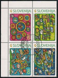 Lot 5591 - Slovenia - 1999 Towards The New Millennium Se-tenant CTO block of 4