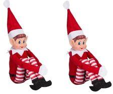 2 X NAUGHTY ELFS XMAS DECORATION FUNNY TOY CHRISTMAS HOME 30CM ELVES ELF PLUSH