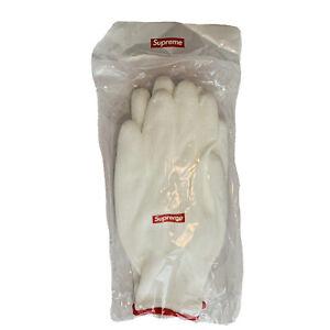 AUTHENTIC Supreme FW20 White Rubberized Gloves Box Logo NEW Dead Stock Unopened