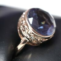 3.5 Ct Round Blue Sapphire Solitaire Ring Women Jewelry 14K White Gold Plated