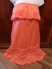 KARTA Salmon Colored Bustier Strapless Fully Lined Dress Ladies Size Small