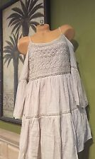 Vivid Importers Of NY Dress Cut Out Peek -A-BOO Shoulder BOHO Chic LACE NWT MED