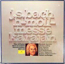 3 LP BOX DGG JS Bach KARAJAN Mass in B Minor LUDWIG SCHREIER JANOWITZ 2740 112