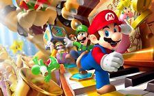 Mario Character Key Piano  Wall Art Print  E254