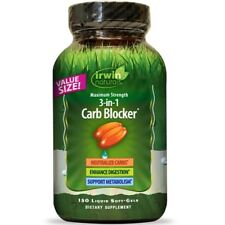 Irwin Naturals Maximum Strength 3-in-1 Carb Blocker Weight Loss -150 Softgels