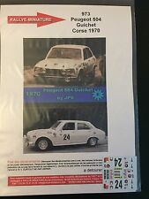DECALS 1/43 PEUGEOT 504 GUICHET RALLYE TOUR DE CORSE 1970 WRC RALLY