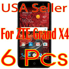 6x New Zte Grand X4 Crystal Clear Lcd Screen Protector (Ship From Usa)