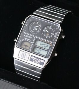 CITIZEN ANA-DIGI TEMP ANA-DIGI TEMP Reprinted Edition Silver JG2101-78E