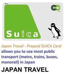 Japan Travel-Prepaid SUICA Card Metro ePass for JR,Subway & Bus in Toyko,Oasak