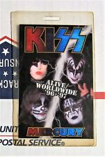 KISS ALIVE/WORLDWIDE 96-97 LAMINATED ALL ACCESS BACKSTAGE PASS VIP NYC 7/25/96