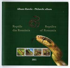 Rumänien Romania 2011 Schlangen Snakes Philatelic album m. Mi. Block 489 ** MNH