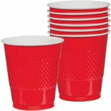 20pk Apple Red Plastic Cups 355ml Birthday Party Wedding Celebration Tableware