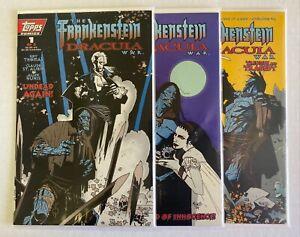 Frankenstein Dracula War (1995) #1, 2, 3 Set - Roy Thomas - Mike Mignola - Topps