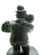 Fernando Botero bronze sculpture Dancers finished in a  black patina