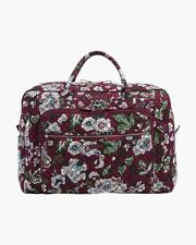 Vera Bradley Iconic Grand Weekender Travel Bag, Bordeaux Blooms