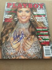 December 2004 Playboy Magazine Signed Autograph Cover Denise Richards
