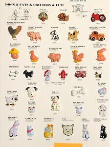 JHB International - DOGS & CATS & CRITTERS & FUN! - 1999 Sample Button Card