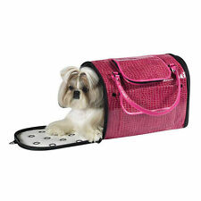 Dog/Cat/Pet/Carrier/Purse/Tote/Bag - Z & Z - Pink Croco Carrier - Medium - NEW