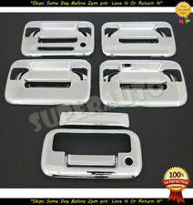 FOR 2004-2014 FORD F150 4 DR CHROME DOOR + TAILGATE HANDLE COVER WITH KEYPAD