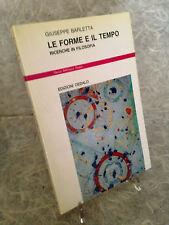 GIUSEPPE BARLETTA LE FORME E IL TEMPO RICERCHE IN FILOSOFIA EDIZIONI DEDALO 1987