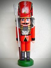 Nussknacker Nussknacker Nutcracker Soldat Rot 38 cm Echt Erzgebirge 15735
