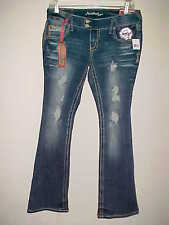 AMETHYST JEANS sz 9 Low Rise Regular Stretch Trumpet NEW Bling Distressed