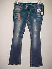 AMETHYST JEANS sz 11 Low Rise Regular Stretch Trumpet NEW $30 Bling Distressed