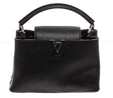 Louis Vuitton Black Taurillon Leather Capucines PM
