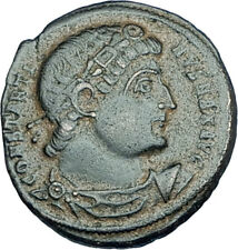 CONSTANTINE I the GREAT 330AD Authentic Ancient Roman Coin w SOLDIERS i65983