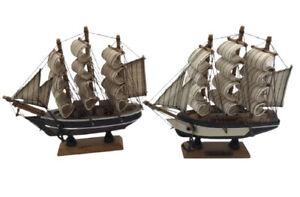 Vintage Charles Morgan Model Wooden Ships X 2