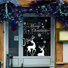 Christmas Reindeer Mural Removable Wall Sticker Decal Home Shop Window Decor USA