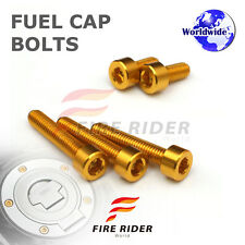 FRW Gold Fuel Cap Bolts Set For Yamaha MT-07 FZ-07 14-16 14 15 16