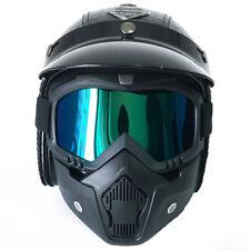 XL Crocodile Black Harley Motorcycle Helmet Vintage Leather Handmade w/Face Mask