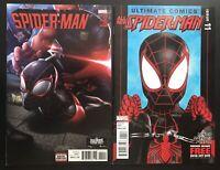 Miles Morales 2 Comic Books Spiderman #20 2011 All New Ultimate Comics #11 2016