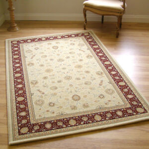 Large Noble Art 6529-191 Cream & Wine Red Traditional Rug 1.35m X 2.0m RRP £154